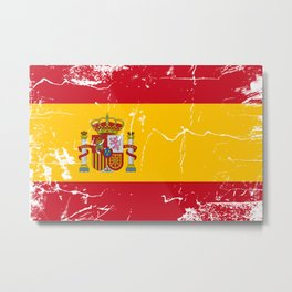 Spain flag with grunge effect Metal Print