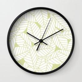 Leaves in Fern Wall Clock
