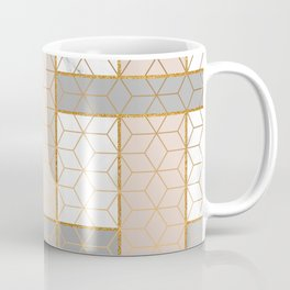 Golden Pastel Marble Geometric Design Coffee Mug