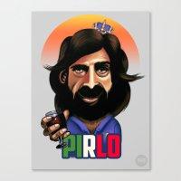 pirlo Canvas Prints featuring Brazil 14: Pirlo by Robin Gundersen