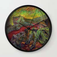 nietzsche Wall Clocks featuring and again and again nietzsche by hankhenry