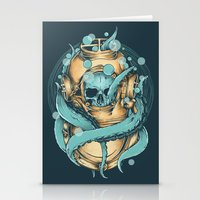 diver Stationery Cards featuring The Diver by Robin Clarijs