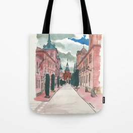 Cloudy street Tote Bag