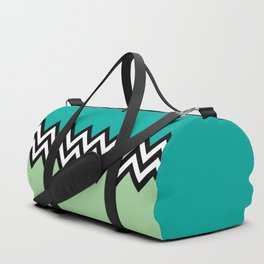 Black and white zigzag design Duffle Bag
