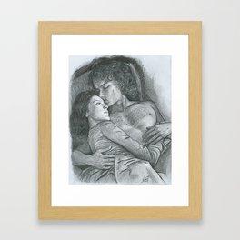 Outlander, kiss Framed Art Print