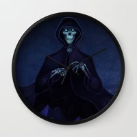 discworld Wall Clocks featuring Discworld Death by grrrenadine