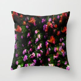 Floral Camoflage Throw Pillow