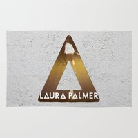 bastille Area & Throw Rugs featuring Bastille #1 Laura Palmer by Thafrayer