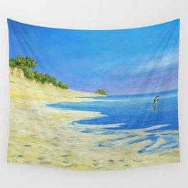 beach run Wall Tapestry