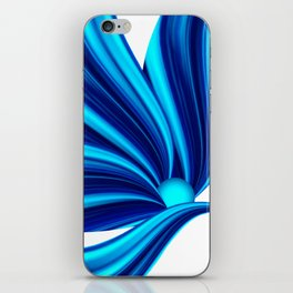 Abstract blue 208 iPhone Skin