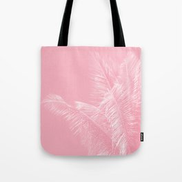 Millennial Pink illumination of Heart White Tropical Palm Hawaii Tote Bag
