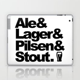 Ale and Lager and Pilsen and Stout Laptop & iPad Skin