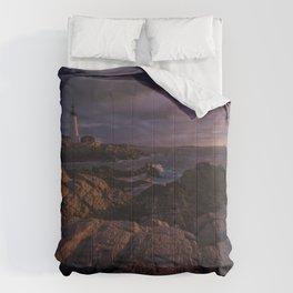 USA Maine Portland Sea Cliff Nature Lighthouses Crag Rock Comforters