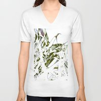 stark V-neck T-shirts featuring Leaves - Stark by Boris Burakov