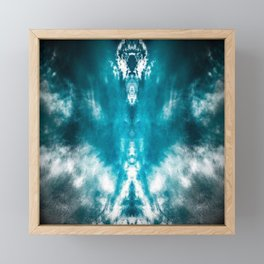 Dark Aqua Abstract Design Framed Mini Art Print