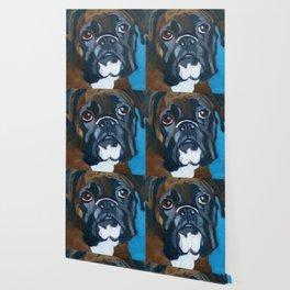 Boxer Lil E Dog Portrait Wallpaper