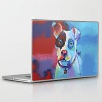 pitbull Laptop & iPad Skins featuring Pete - Pitbull Pop Art by Corina St. Martin Art