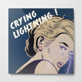 Crying Lightning Artic Monkey Fan Art Metal Print