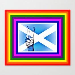 Scotland World Peace Flag Canvas Print