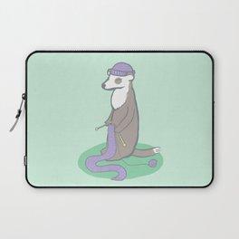 Knitting Ferret Laptop Sleeve