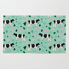 Terrazzo Holsteins // Mint Rug
