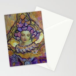 Lady Contemplating Stationery Cards