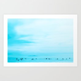 Surfing - The Waiting Art Print