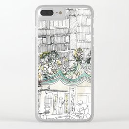 sketch_temple Clear iPhone Case