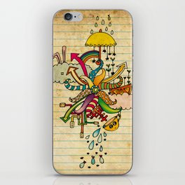 Notebook World iPhone Skin
