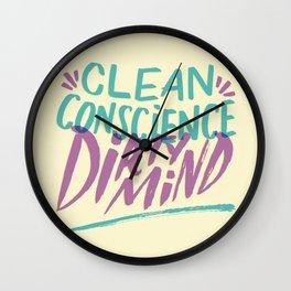 Clean/Dirty Wall Clock