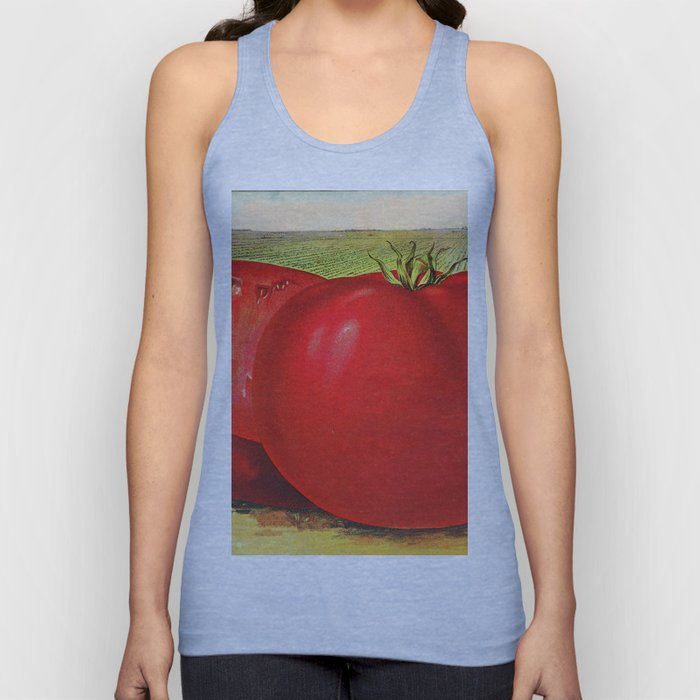 Vintage Illustration of a Beefsteak Tomato (1905) Unisex Tank Top