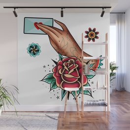 hand with a love letter Wall Mural