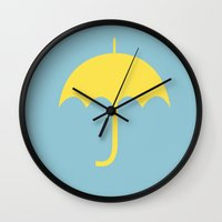 how i met your mother Wall Clocks featuring HOW I MET YOUR MOTHER by MoSch