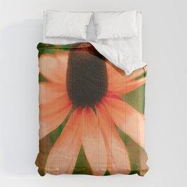 Vibrant Orange Coneflower Comforters