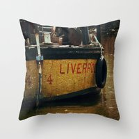 liverpool Throw Pillows featuring That's Liverpool not Liverpoo =) by Mark Bagshaw Photography
