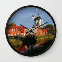 Dutch Windmill in Holland Wall Clock