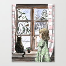 Window dreaming. Canvas Print