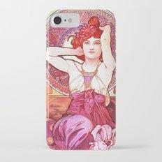 Alphonse Mucha Amethyst Art Nouveau iPhone 7 Slim Case