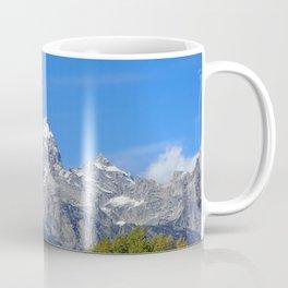 Tipi with snow capped mountains Coffee Mug