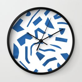 Cut Out - Blue Wall Clock