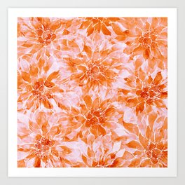 The Smell of Spring 3 / Monochrome / Apricot Art Print