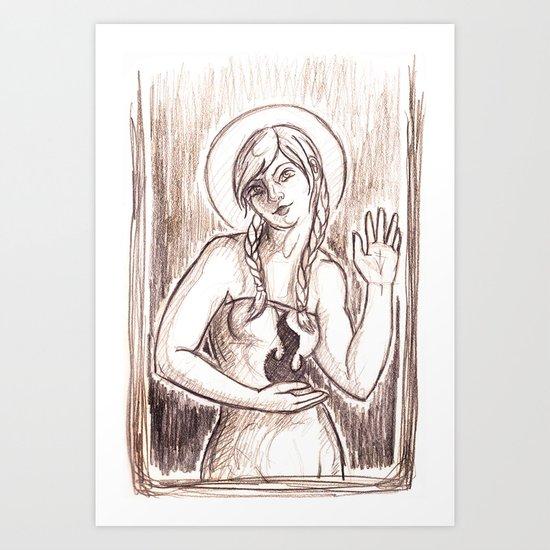 Fire Saint Art Print