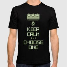 Keep Calm and Choose One Mens Fitted Tee Black MEDIUM