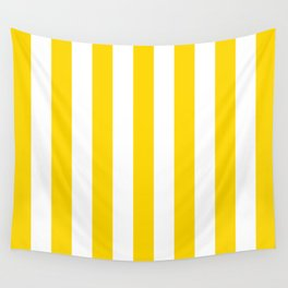 Vertical Stripes (Gold/White) Wall Tapestry