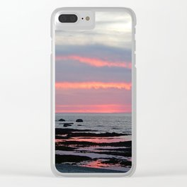 Texture Filled Clouds Clear iPhone Case