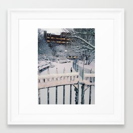 Winter Gate Framed Art Print