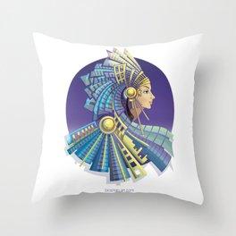 Amerindian Fantasy Throw Pillow