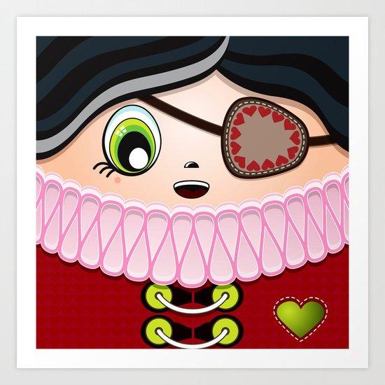 Pirate Princess Art Print