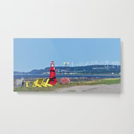 The Windy Coast Metal Print