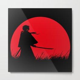 Samurai X Metal Print